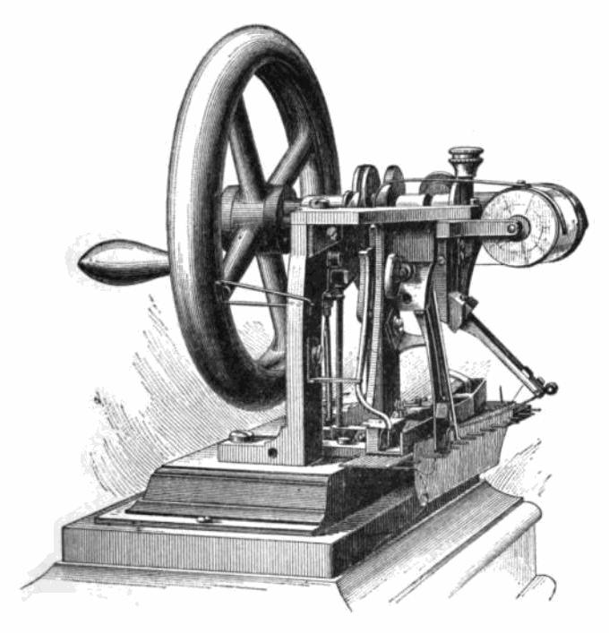 La machine à coudre d'Elias Howe brevetée en 1846